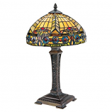 The Carlisle Beaux Arts Stained Glass Lamp