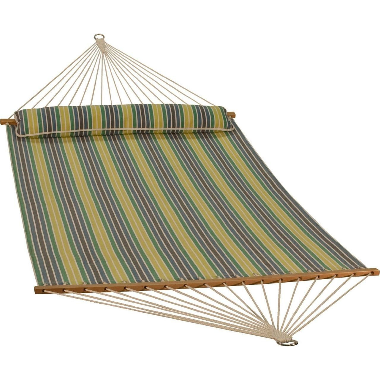 Gleason Quick Dry Hammock With Bolster - Spring Stripe