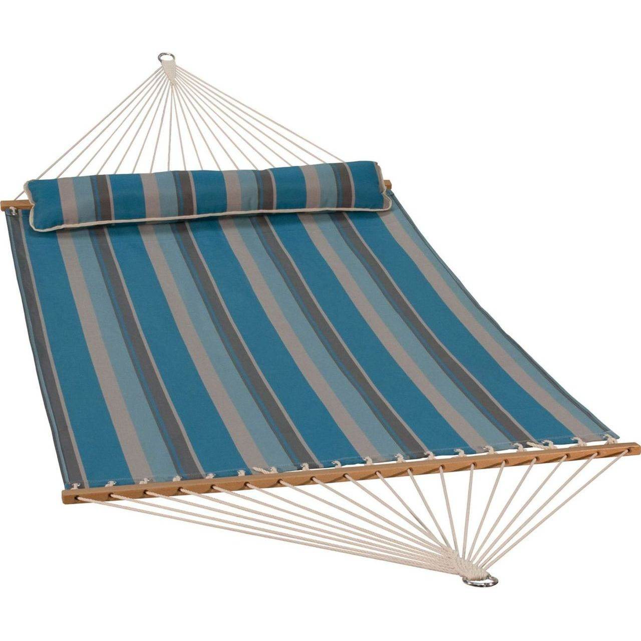 Gleason Quick Dry Hammock With Bolster - Ocean Stripe