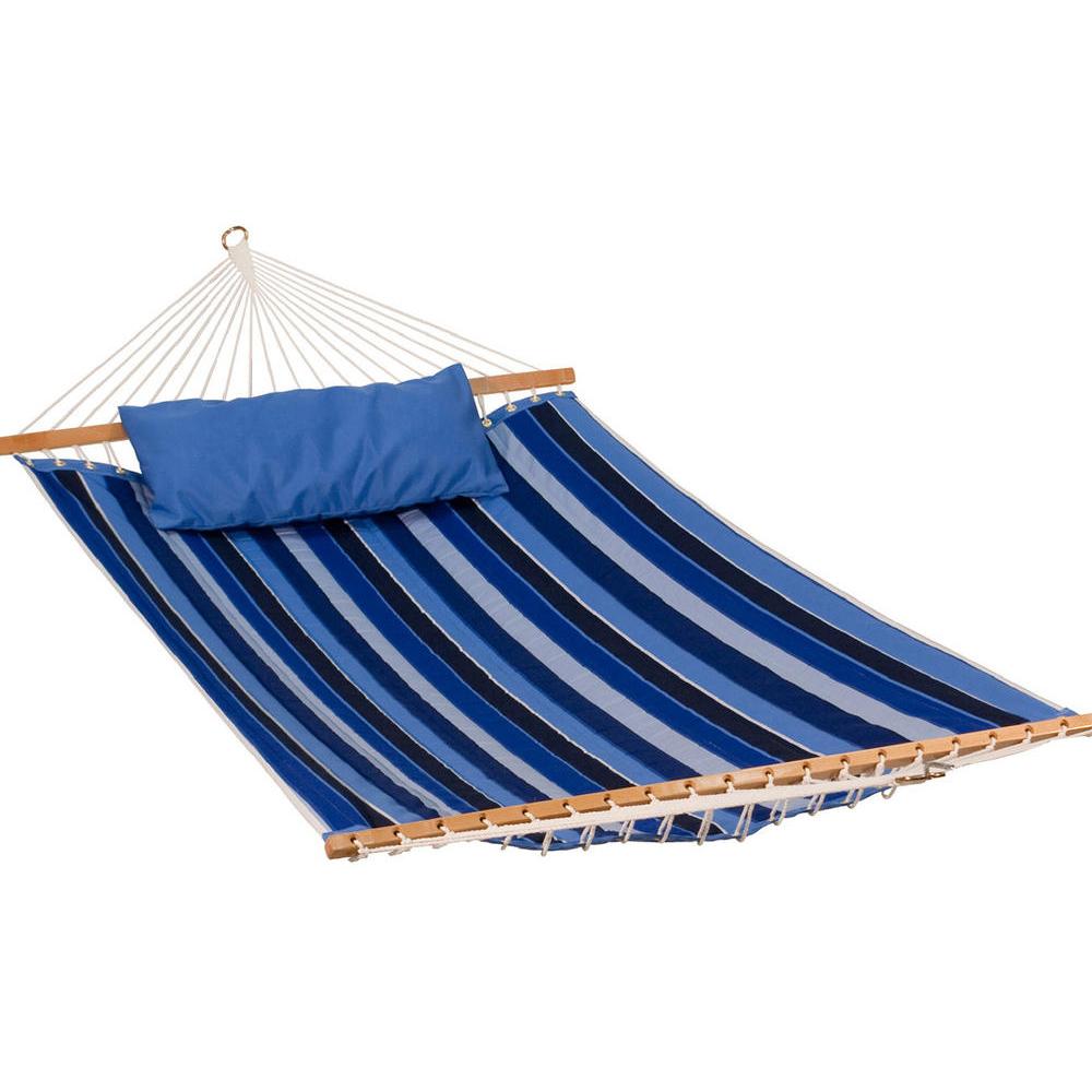 Gleason Reversible Sunbrella Quilted Hammock - Cobalt