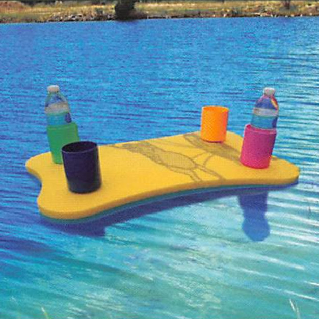 Aqua Lily Dog Bone Cooler Table With 4 Coozies - 24 x 18