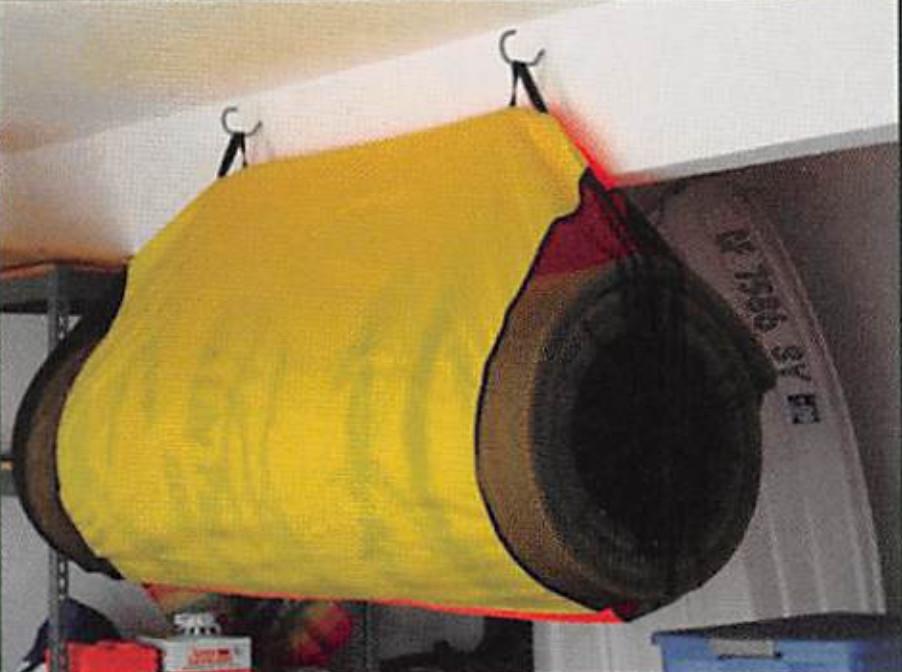 Aqua Lily Orange Large Storage Bag For Pads Over 18' Or Under