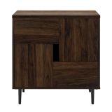 Walker Edison 30'' Color Pop Accent Cabinet - Dark Walnut/Navy Interior