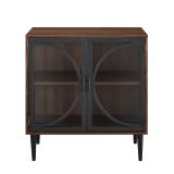Walker Edison AF30LOLADW 30'' Industrial Storage Cabinet - Dark Walnut