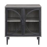 Walker Edison AF30LOLASG 30'' Industrial Storage Cabinet - Slate Grey