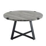 Walker Edison AF30MWCTSG Round Coffee Table - Slate Grey