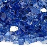 AFG AFF-COBLRF-10 Cobalt Blue 10 lbs. Reflective Fire Glass - 1/4""