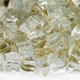 AFG AFF-GDRF12-10 Gold 10 lbs. Reflective Fire Glass - 1/2""