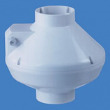 "6"" Centrifugal Fan Plastic - 325 CFM-White"
