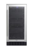 Summit Appliance ALBV15 Black Wide Cabinet Built-In Beverage Center