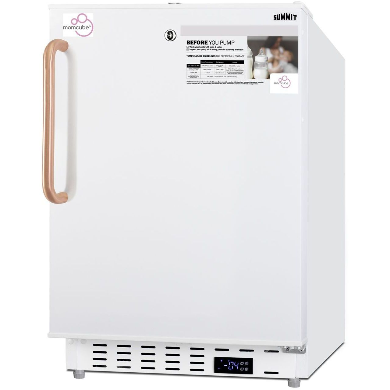 """Summit 20"""" Built-In MOMCUBE All-Freezer ADA Compliant - Antimicrobial"""