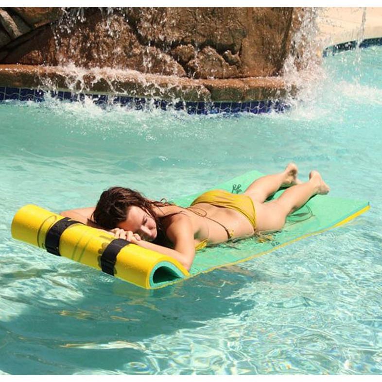 "Aqua Lily Tadpole Single Pad With 72"" Pillow - 24""W x 85""L"