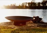 """Asia 72"""" Electronic Fire Pit with Stainless Steel Burner - NG"""