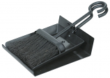 Black Shovel And Brush Set With Pan