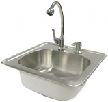 Cal Flame Stainless Steel Sink with Faucet & Soap Dispenser