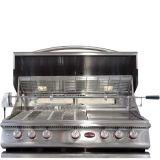 Cal Flame Built-In P Series 5 Burner Gas BBQ Grill w/ Back Burner - LP