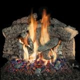 """18"""" Bedford Char Vented Gas Logs with Convertible Safety Pilot - NG"""