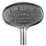 "8"" Universal Key Satin Chrome By Blue Flame"