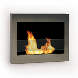 Anywhere Fireplace 90299 SoHo Indoor Wall Mount - Stainless Steel