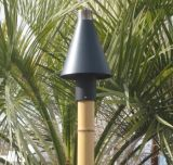 Black Cone Series Automated Tiki Torch with Bamboo Pole - NG