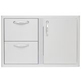 Blaze BLZ-DDC-R 32'' Access Door and Double Drawer Combo