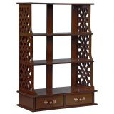 Chinese Chippendale-Style Triple Shelf Hardwood Curio