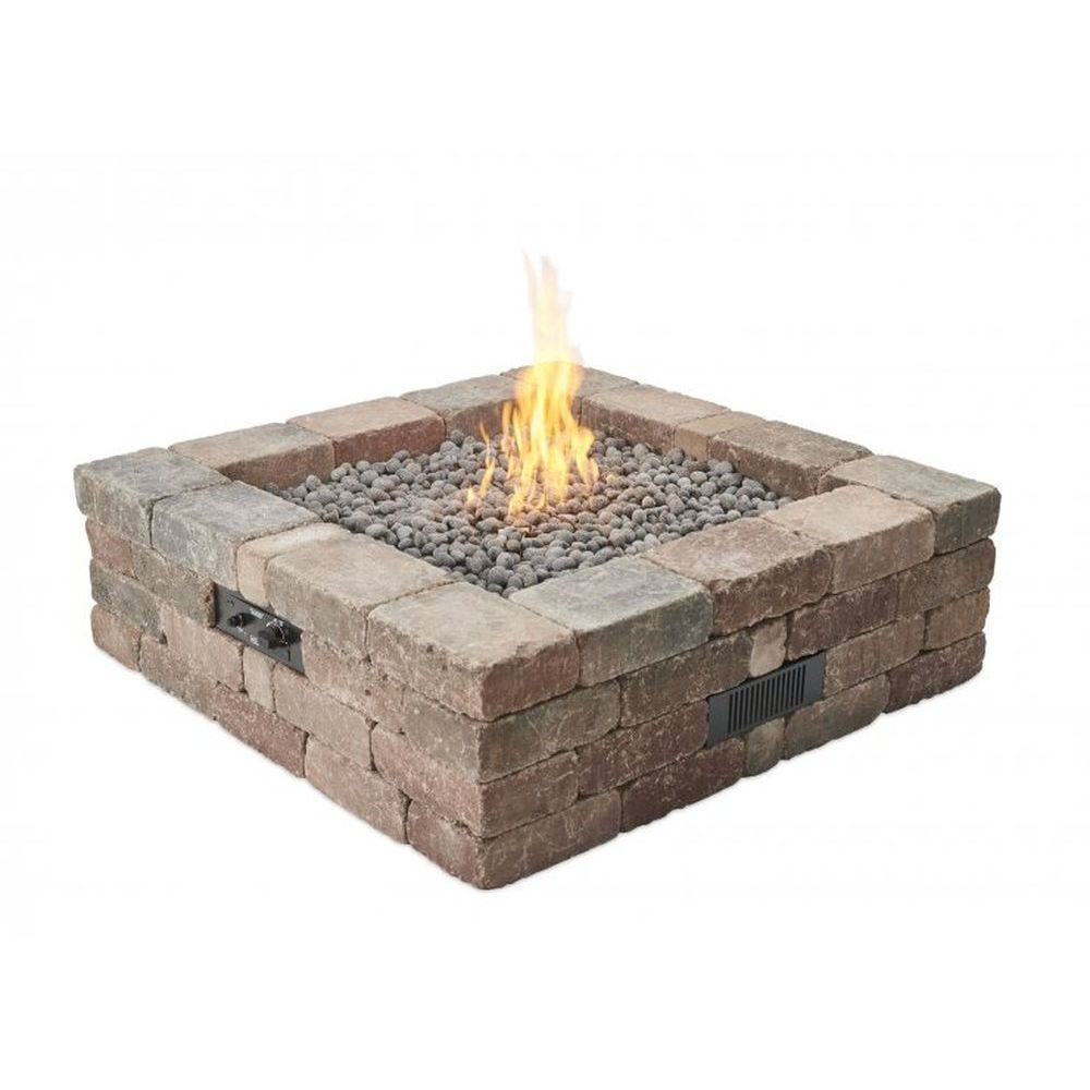 Outdoor GreatRoom Bronson Block Gas Fire Pit Kit - Square