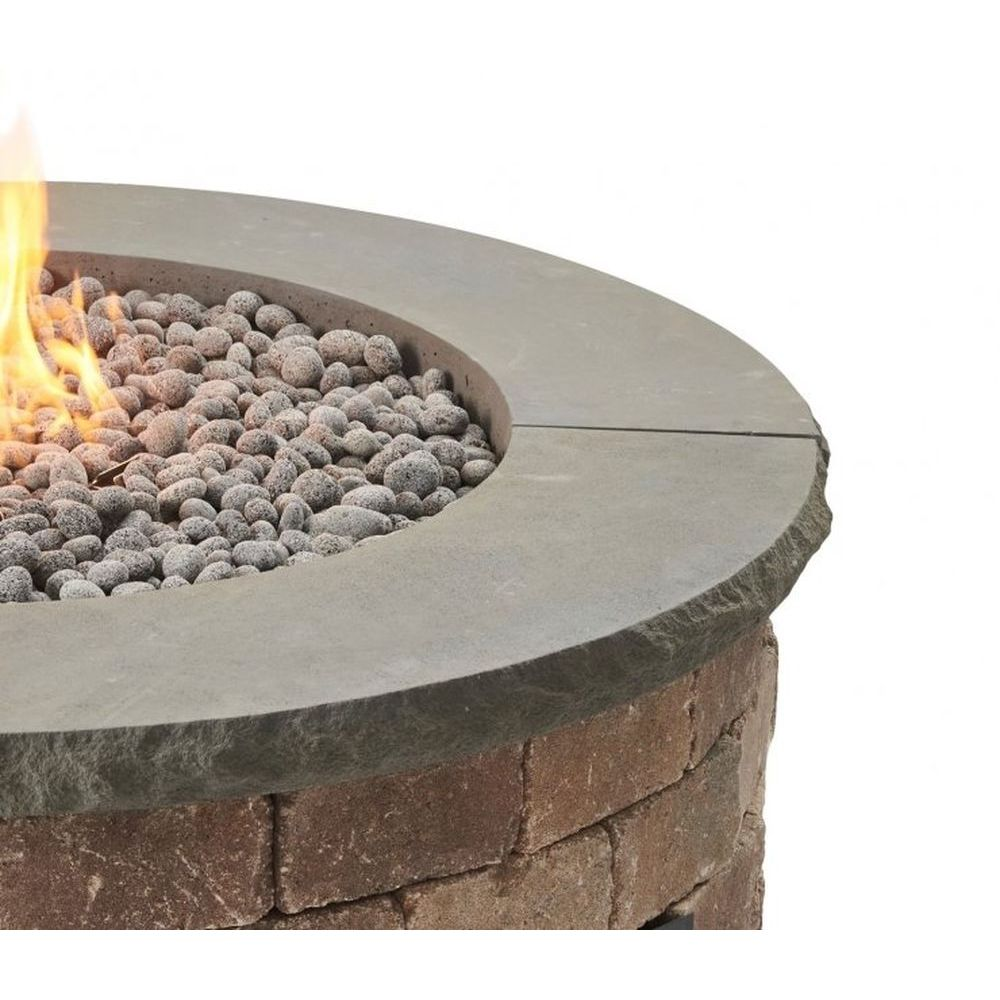 Outdoor GreatRoom Round Bronson 1/4-Pc Concrete Top - Charcoal Grey