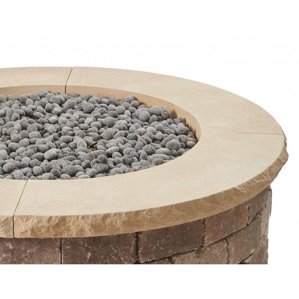 Outdoor GreatRoom Round Bronson 1/4-Pc Concrete Top - Limestone Tan
