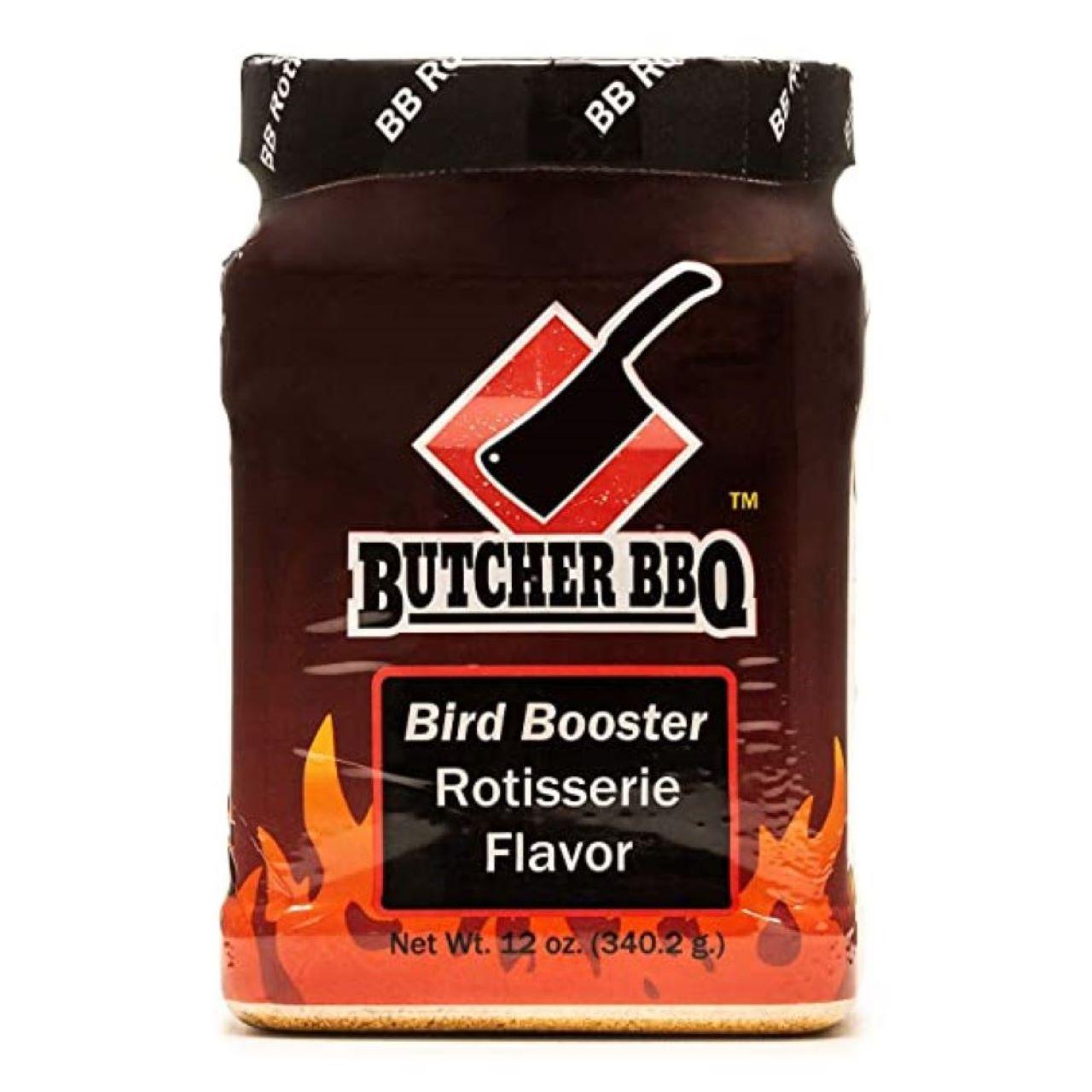 Butcher BBQ 12oz Bird Booster Rotisserie Flavor Powder Injection Marinade