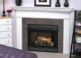 """Deluxe MV 34"""" Louver B-Vent Fireplace - Natural Gas"""