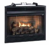 Deluxe 36 Keystone Series MV Louvered B-Vent Fireplace - Natural Gas