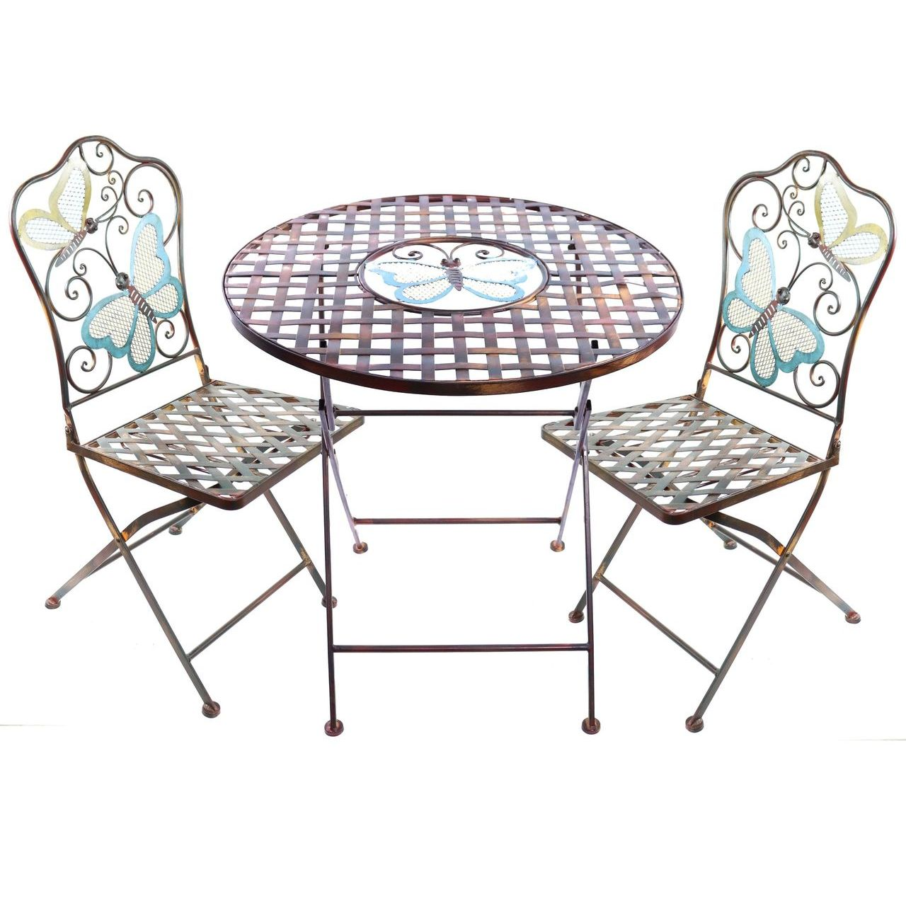 Alpine BVK574A Butterfly Table and Two Chairs Bistro Set