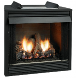 "Deluxe 36"" Vent-Free Firebox with Louver Refractory Liner"