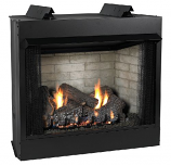 "Deluxe 36"" Vent-Free Firebox with Flush Face Refractory Liner"
