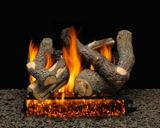 "24"" Bristol Split Logs with Single Log Switch Pilot kit Burner Tube - NG"