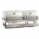 Aurora A830i Built-In Gas & Charcoal Combo Grill w/o Rotisserie - LP