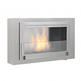 Free Standing Or Built-In Montreal 2-Sided Fireplace- Stainless Steel