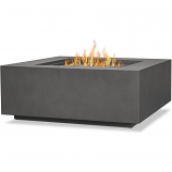 Real Flame C9812LP-WSLT Aegean Square Gas Fire Table - Weathered Slate