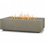 Real Flame C9813LP-MGRY Aegean Rectangle Gas Fire Table - Mist Gray