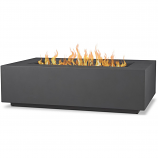 Real Flame C9813LP-WSLT Aegean Rectangle Gas Fire Table - Weathered Slate