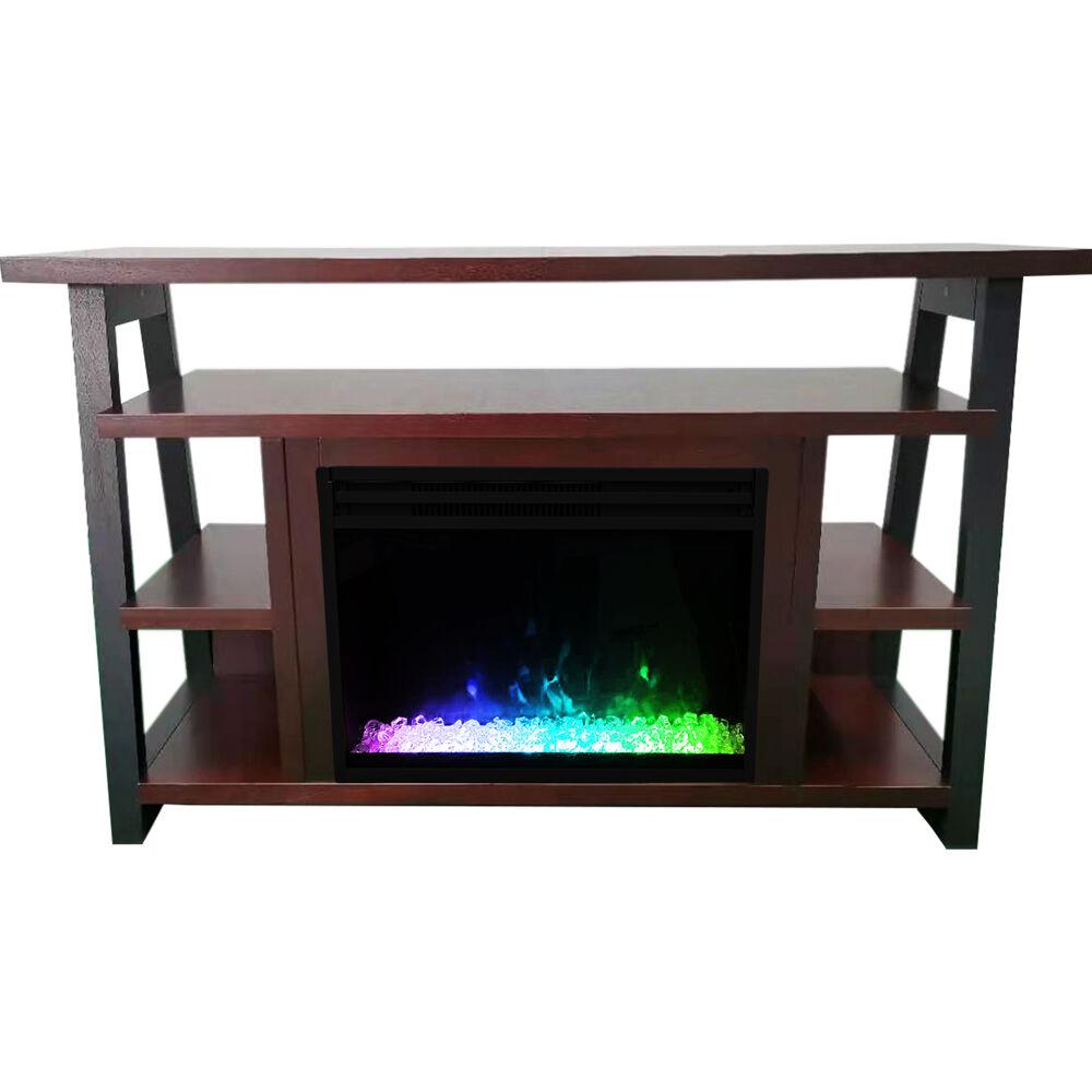 "Cambridge 32"" Sawyer Electric Fireplace Mantel/Crystals - Mahogany"