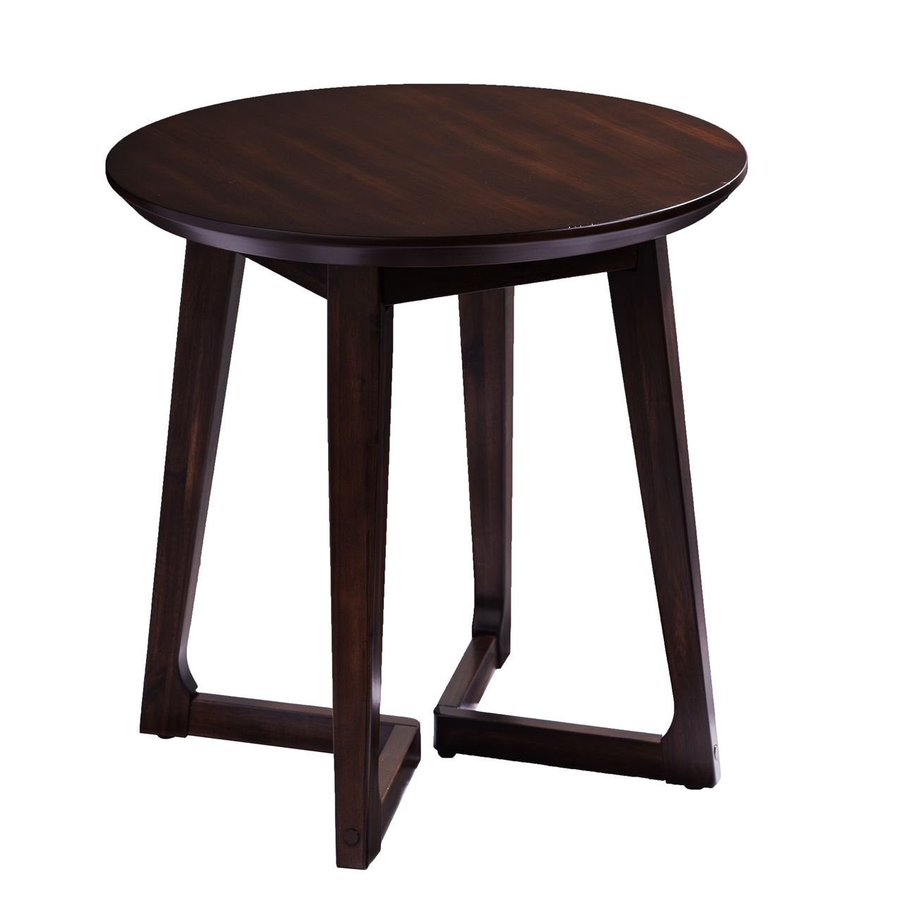 Holly & Martin Meckland Round End Table in Dark Walnut