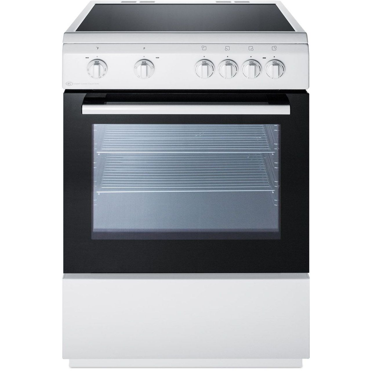Summit CLRE24WH 24''W Smooth Top Electric Range - White/White/Black