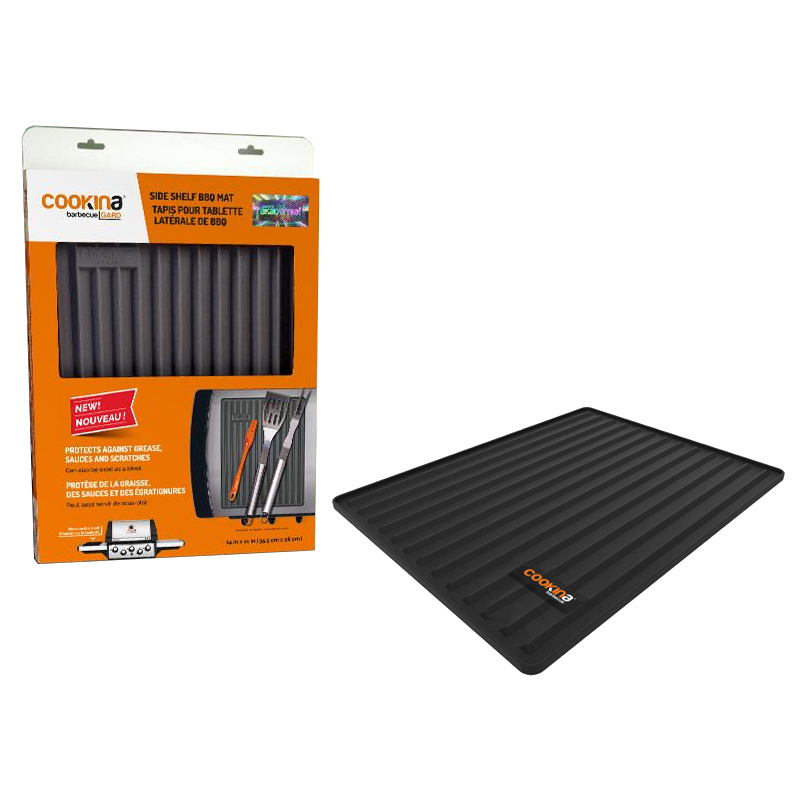 Cookina Barbeque Gard MB10 Silicone Side Shelf Barbecue Mat-Box of 10