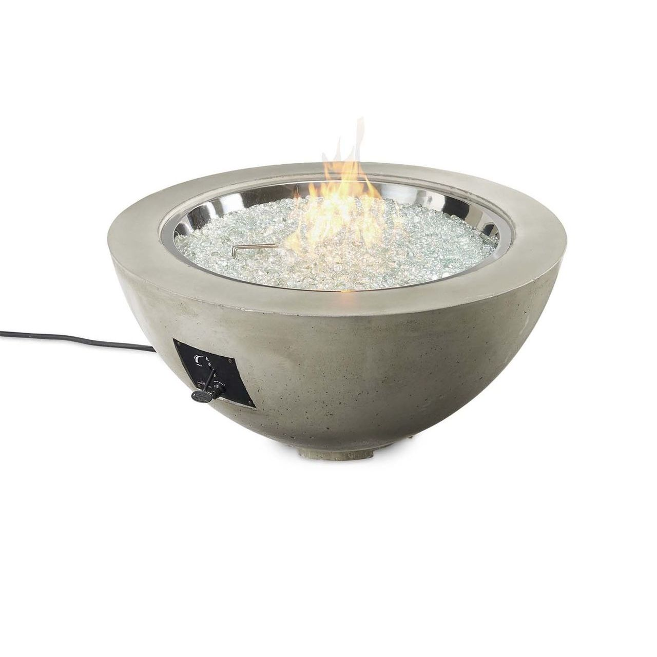 "Outdoor GreatRoom 42"" Cove Round Gas Fire Pit Bowl - Natural Grey"