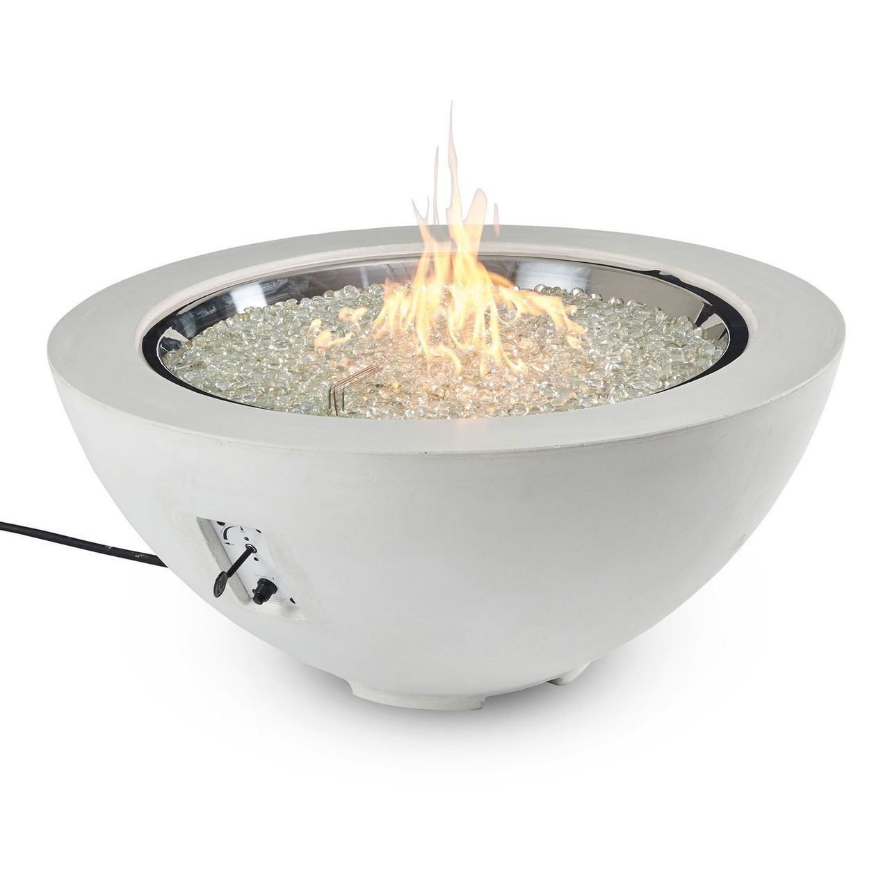 "Outdoor GreatRoom 42"" Cove Round Gas Fire Pit Bowl - White"
