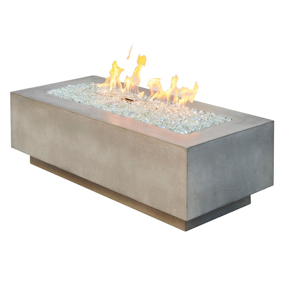 "Outdoor GreatRoom 54"" Cove Linear Gas Fire Table - Natural Grey"