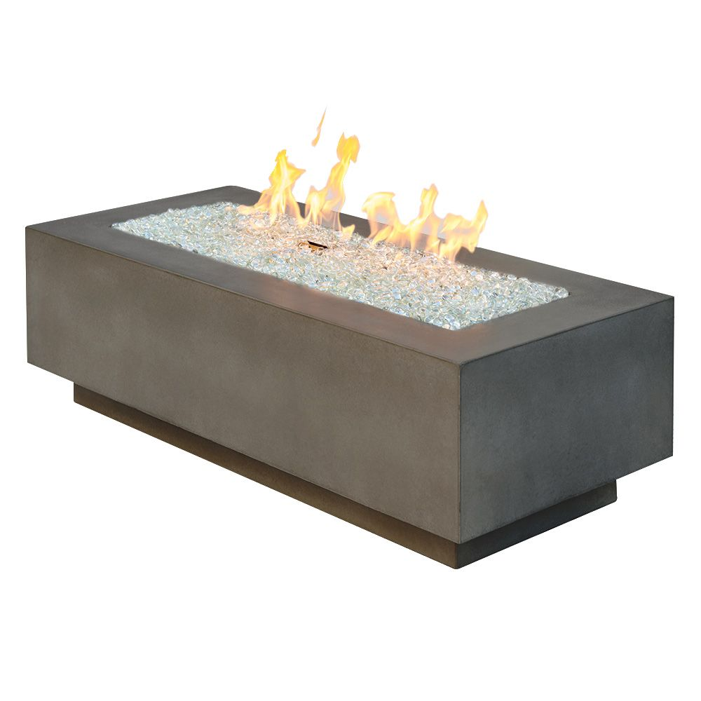 "Outdoor GreatRoom 54"" Cove Linear Gas Fire Table - Midnight Mist"