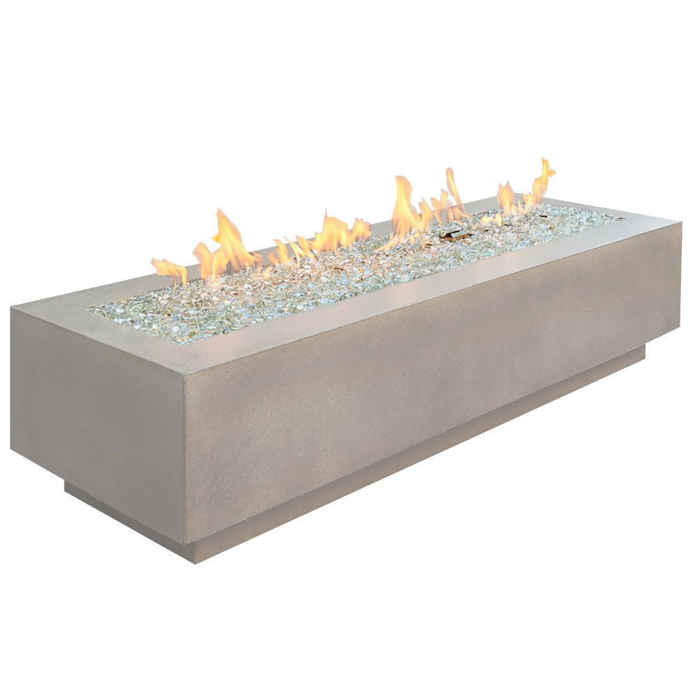 "Outdoor GreatRoom 72"" Cove Linear Gas Fire Table - White"